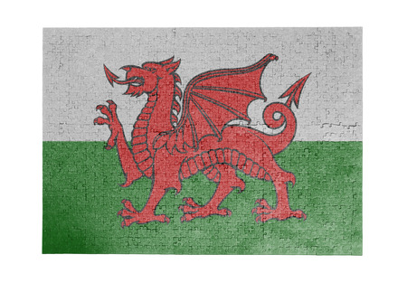 Large jigsaw puzzle of 1000 pieces with flag of Wales
