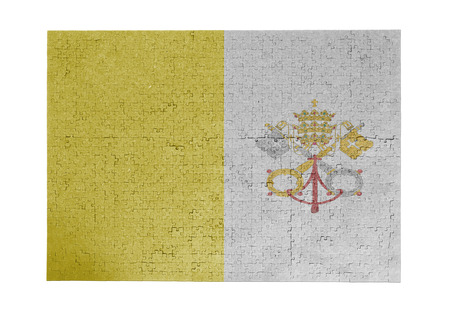 linkages: Large jigsaw puzzle of 1000 pieces with flag of Vatican city