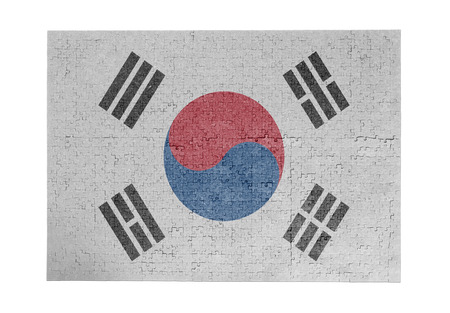 linkages: Large jigsaw puzzle of 1000 pieces - flag - South Korea