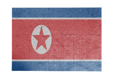 Large jigsaw puzzle of 1000 pieces - flag - North Korea