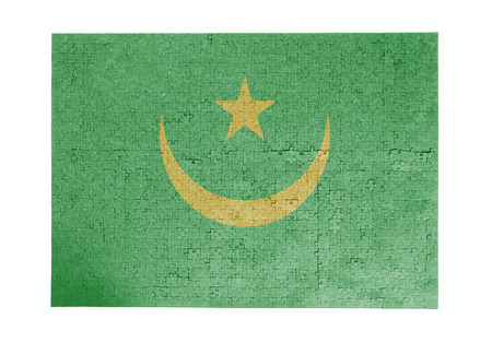 linkages: Large jigsaw puzzle of 1000 pieces Mauritania flag Stock Photo
