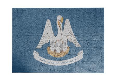 louisiana flag: Large jigsaw puzzle of 1000 pieces Louisiana flag