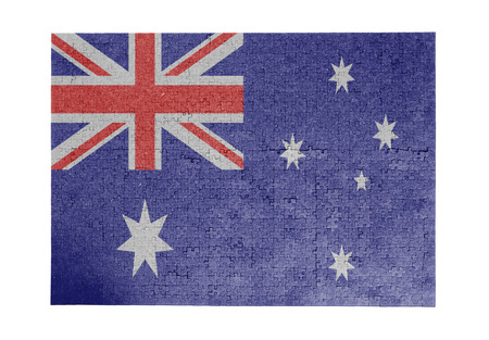 linkages: Large jigsaw puzzle of 1000 pieces Australia flag