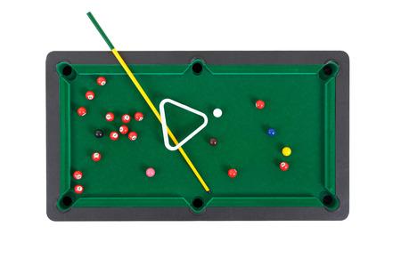 snooker balls: Snooker balls on a green snooker table