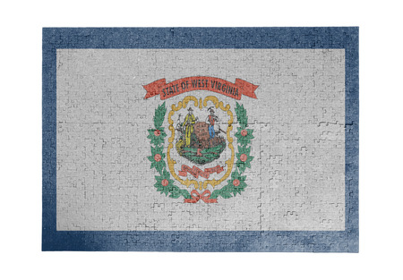 linkages: Large jigsaw puzzle of 1000 pieces West Virginia flag