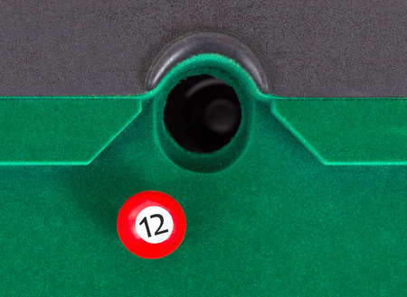 number 12: Red snooker ball is going to fall - number 12