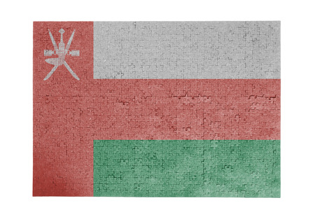linkages: Large jigsaw puzzle of 1000 pieces Oman flag