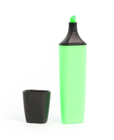 highlighter: Green highlighter isolated over a white background