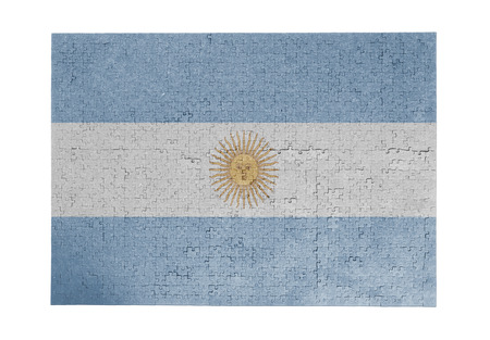 linkages: Large jigsaw puzzle of 1000 pieces Argentina flag  Stock Photo