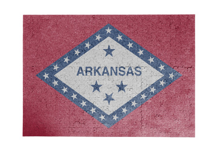 linkages: Large jigsaw puzzle of 1000 pieces Arkansas flag