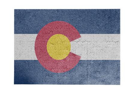 colorado flag: Large jigsaw puzzle of 1000 pieces Colorado flag