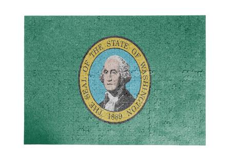 linkages: Large jigsaw puzzle of 1000 pieces Washington flag