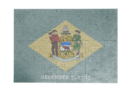 delaware: Large jigsaw puzzle of 1000 pieces Delaware flag