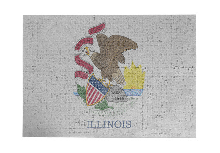 Large jigsaw puzzle of 1000 pieces Illinois flag