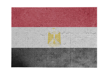 egypt flag: Large jigsaw puzzle of 1000 pieces Egypt flag Stock Photo