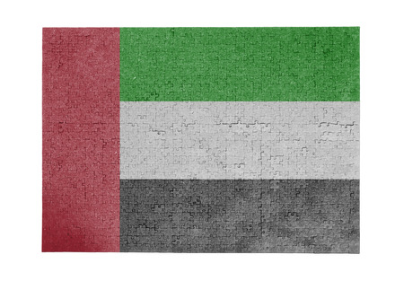 linkages: Large jigsaw puzzle of 1000 pieces UAE flag