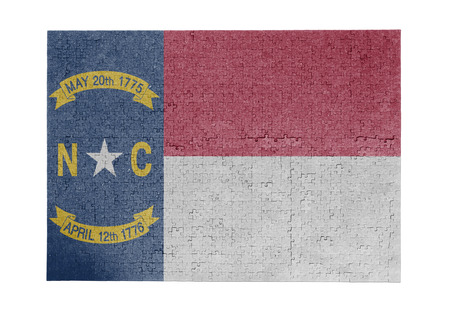 Large jigsaw puzzle of 1000 pieces - flag - North Carolina