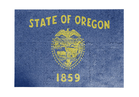 linkages: Large jigsaw puzzle of 1000 pieces Oregon flag