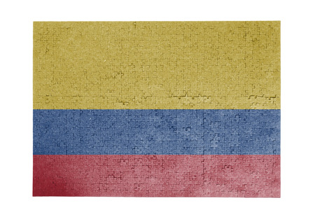 linkages: Large jigsaw puzzle of 1000 pieces Colombia flag