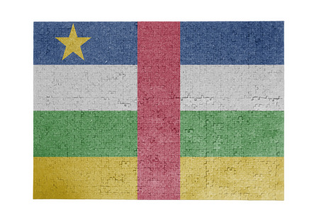 linkages: Large jigsaw puzzle of 1000 pieces Central African Republic flag
