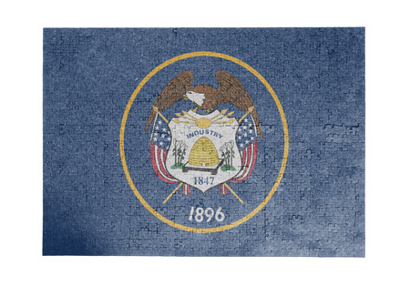 linkages: Large jigsaw puzzle of 1000 pieces Utah flag