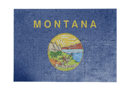 linkages: Large jigsaw puzzle of 1000 pieces Montana flag