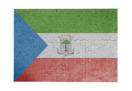 equatorial guinea: Large jigsaw puzzle of 1000 pieces Equatorial Guinea flag Stock Photo