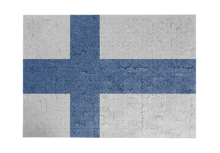 linkages: Large jigsaw puzzle of 1000 pieces Finland flag
