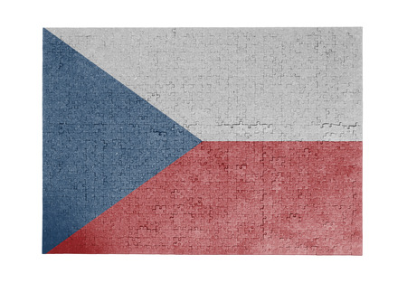 linkages: Large jigsaw puzzle of 1000 pieces Czech Republic flag Stock Photo