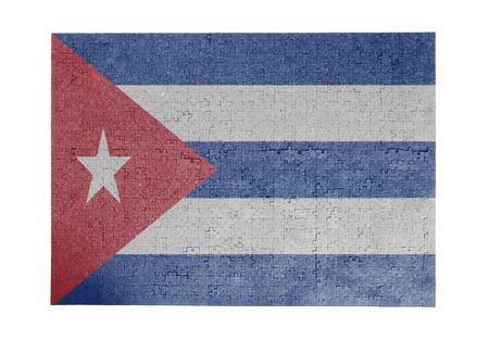 cuba flag: Large jigsaw puzzle of 1000 pieces Cuba flag