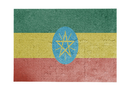 linkages: Large jigsaw puzzle of 1000 pieces Ethiopia flag
