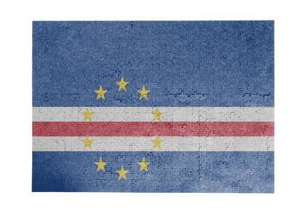cape verde flag: Large jigsaw puzzle of 1000 pieces Cape Verde flag