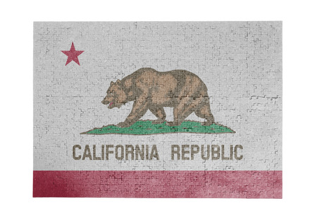 Large jigsaw puzzle of 1000 pieces California flag