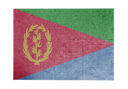 linkages: Large jigsaw puzzle of 1000 pieces Eritrea flag