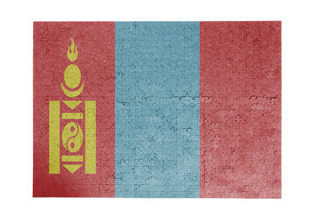 linkages: Large jigsaw puzzle of 1000 pieces Mongolia flag