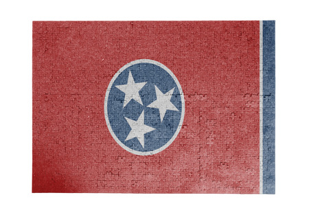 Large jigsaw puzzle of 1000 pieces Tennessee flag