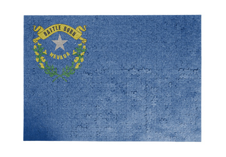 linkages: Large jigsaw puzzle of 1000 pieces Nevada flag
