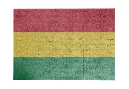 bandera de bolivia: Gran rompecabezas de 1000 piezas Bolivia bandera Foto de archivo