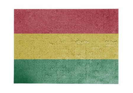 linkages: Large jigsaw puzzle of 1000 pieces Bolivia flag Stock Photo