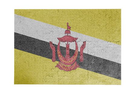 linkages: Large jigsaw puzzle of 1000 pieces Brunei flag