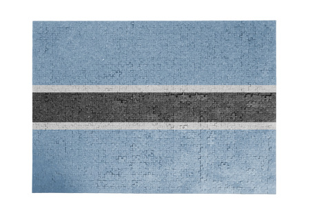 linkages: Large jigsaw puzzle of 1000 pieces Botswana flag