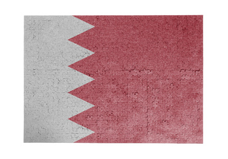 linkages: Large jigsaw puzzle of 1000 pieces - flag - Bahrain
