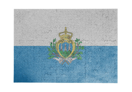 linkages: Large jigsaw puzzle of 1000 pieces - flag - San Marino