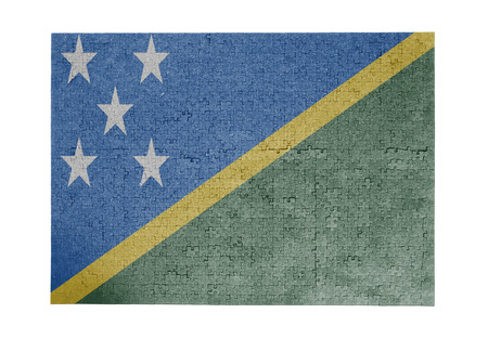 linkages: Large jigsaw puzzle of 1000 pieces - flag - Solomon Islands Stock Photo