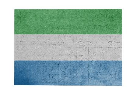 sierra leone: Large jigsaw puzzle of 1000 pieces - flag - Sierra Leone Stock Photo