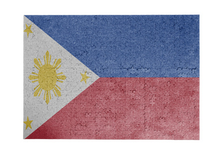 Large jigsaw puzzle of 1000 pieces - flag - Philippines