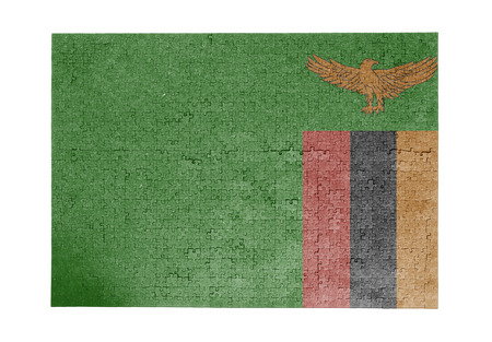 linkages: Large jigsaw puzzle of 1000 pieces - flag - Zambia Stock Photo