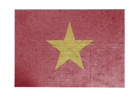 linkages: Large jigsaw puzzle of 1000 pieces - flag - Vietnam
