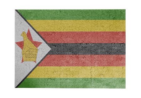 linkages: Large jigsaw puzzle of 1000 pieces - flag - Zimbabwe