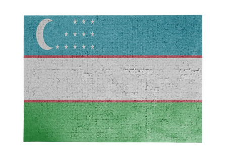 linkages: Large jigsaw puzzle of 1000 pieces - flag - Uzbekistan